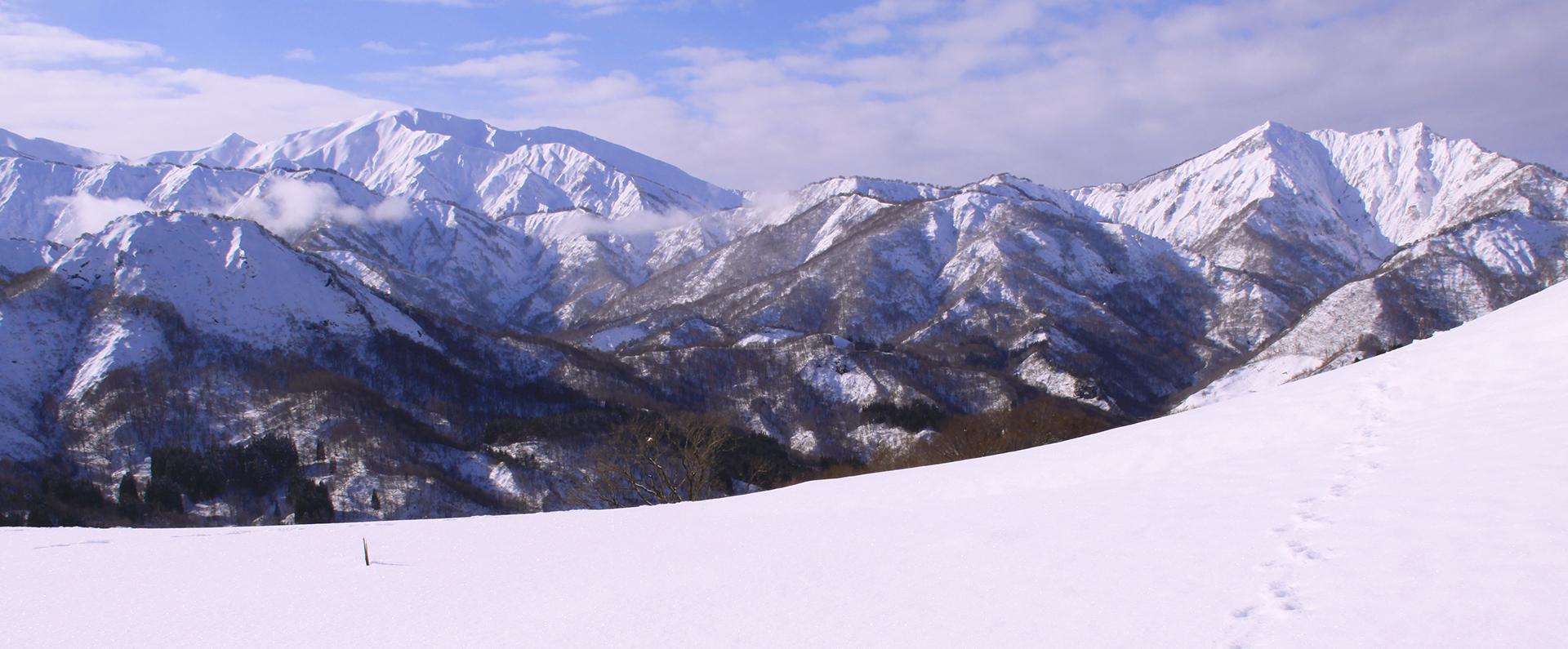 山形県小国町の雪景色
