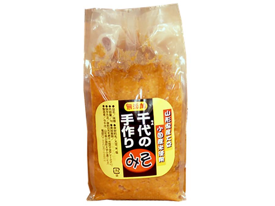 千代の手作り味噌|1kg【山形県産大豆、小国町産米使用】