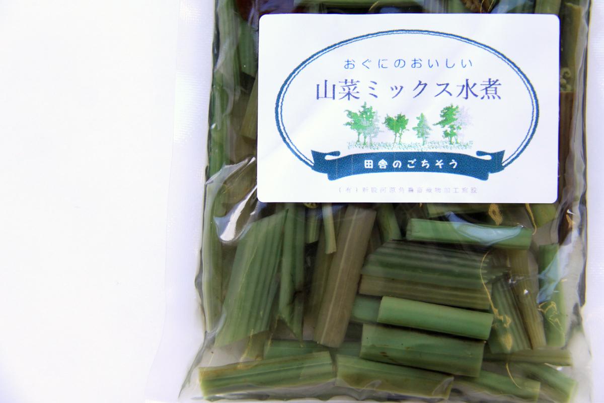 山菜ミックス水煮|新股河原角加工所 ネコポス送料無料