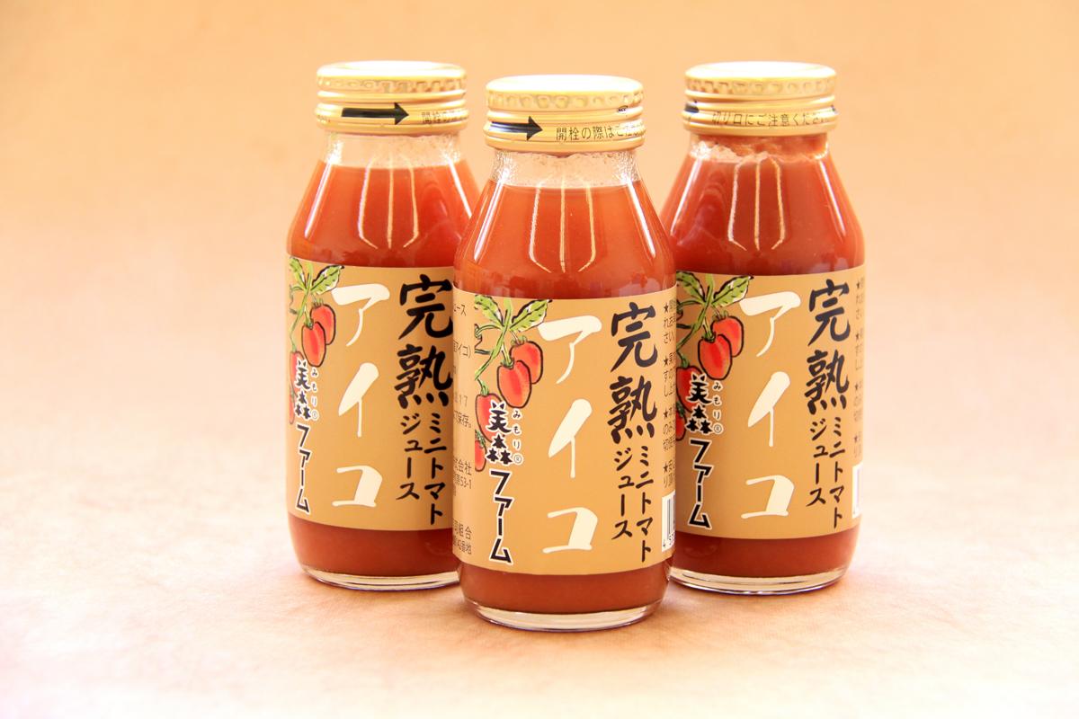 完熟トマトジュース アイコ|美森ファーム
